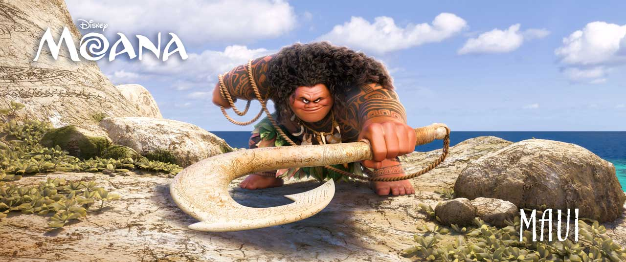 "DWAYNE JOHNSON (HBO's ""Ballers,"" ""Central Intelligence"") voices MAUI—half god, half mortal, all awesome. ©2016 Disney. All Rights Reserved."