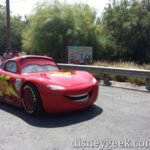 Lightning McQueen on Cross Street in #CarsLand