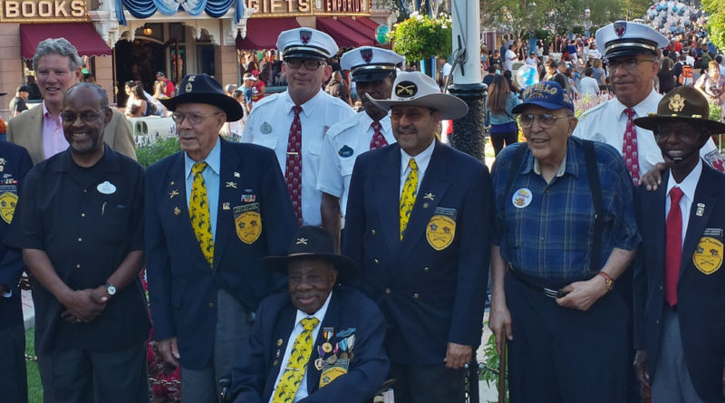 Buffalo Soldiers Honored at Disneyland Flag Retreat