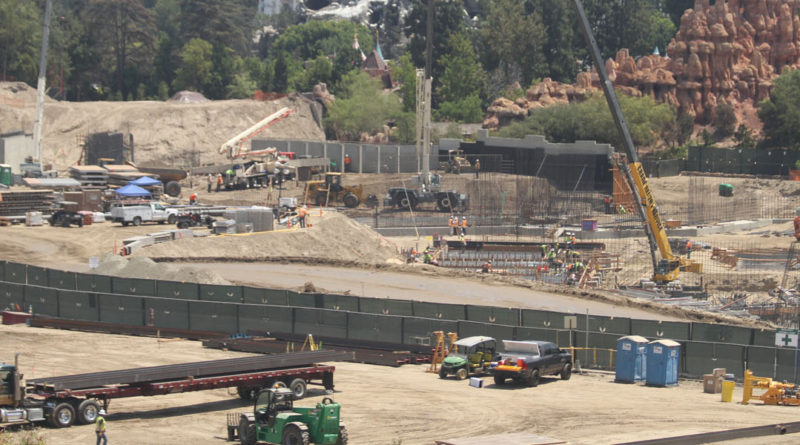 Disneyland Star Wars Construction 8/5