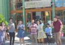 A Capella group performing in Downtown Disney