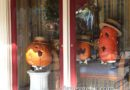 #Halloween is making its way onto Main Street – some pumpkins in the Opera house windows