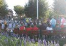 Gathering around the flag pole @ #Disneyland for the nightly flag retreat
