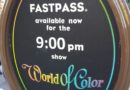 As of 5:40pm still distributing FastPasses for 1st World of Color Celebrate show