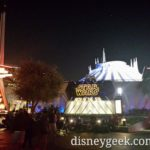 #Disneyland Tomorrowland – Space Mountain is lit with bright white, but has some Ghost Galaxy audio playing