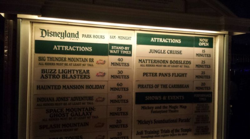 #Disneyland waits as of 9:11pm
