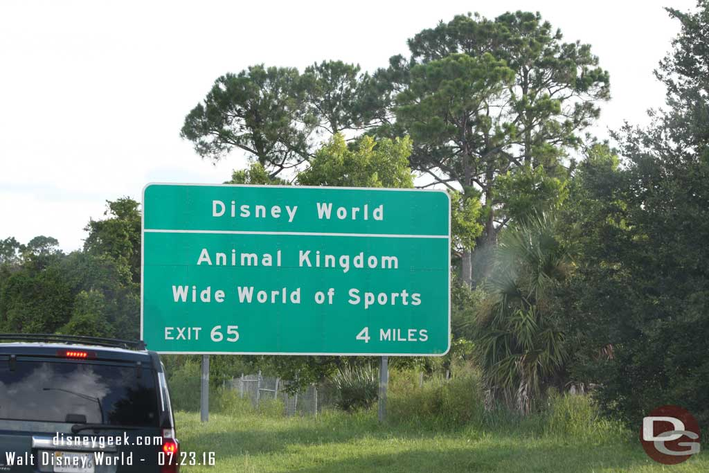 Disney World Exit for Animal Kingdom & Wide World of Sports