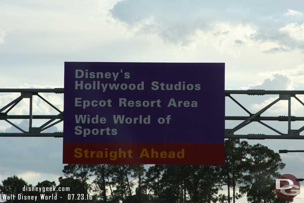 Disney Road Signs