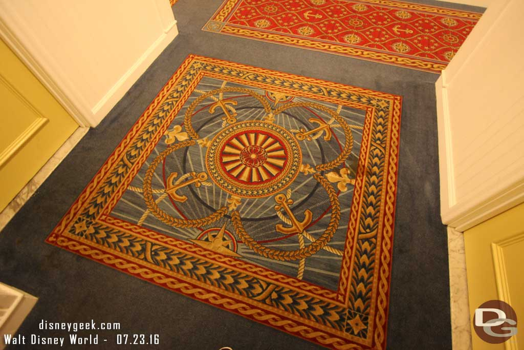Disney's Yacht Club Resort - Hallway Carpet