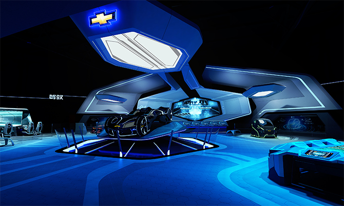 TRON Realm, Chevrolet Digital Challenge presents three cutting-edge concept vehicles: Qing Yi, Ling Si, and Guang Suo.