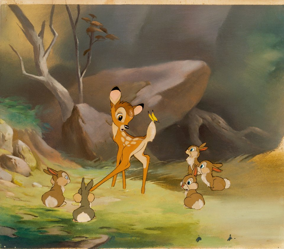 Bambi, originally intended as Walt Disney's second feature-length film, was finally completed and released in 1942 as his sixth.
