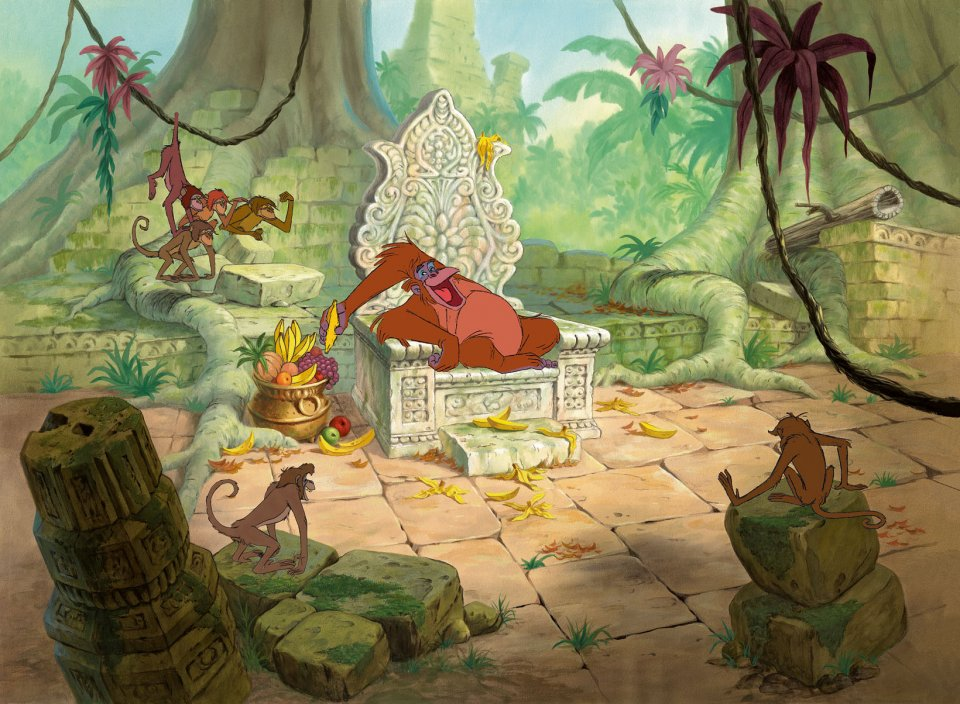 "A cel setup of King Louie, the self-styled ""Jungle V.I.P."" The Jungle Book (1967)"