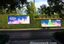 #Disneyland – World of Color – Season of Light billboards at the tram stop
