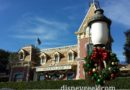 #Christmas is taking over #Disneyland – decorations on the train station