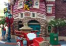 #Toontown is decorated for #Christmas & the fire truck is back