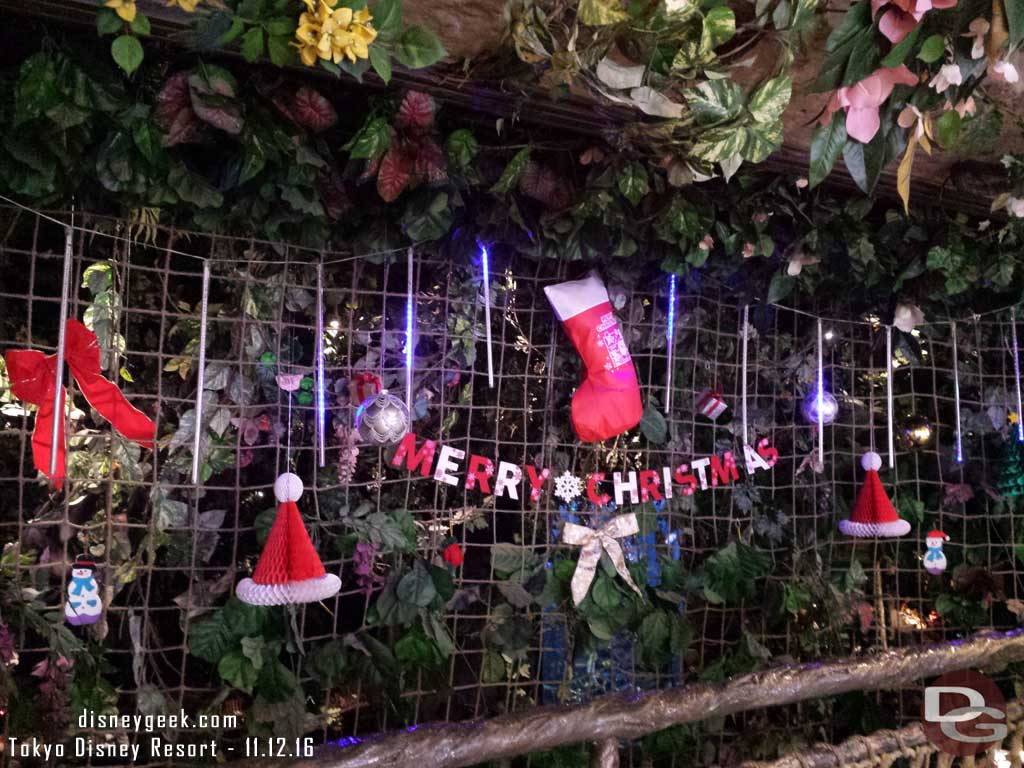 Tokyo Disney Resort - Rainforest Cafe Christmas Decorations