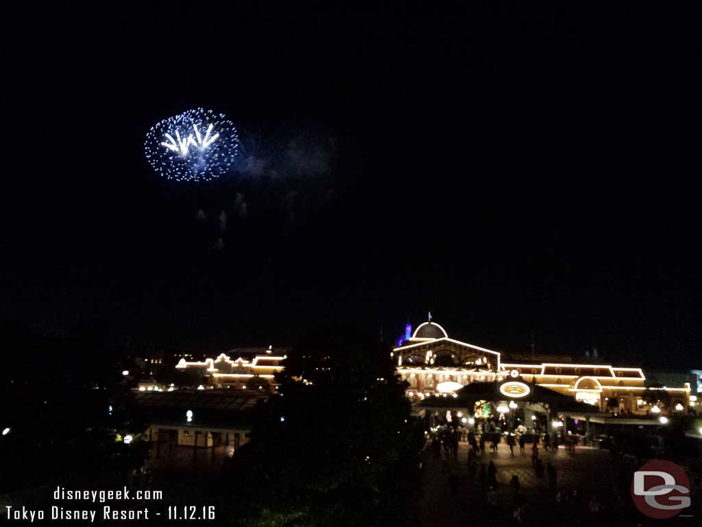 Tokyo Disney Resort - Fireworks to conclude my evening from the Resort Line Station