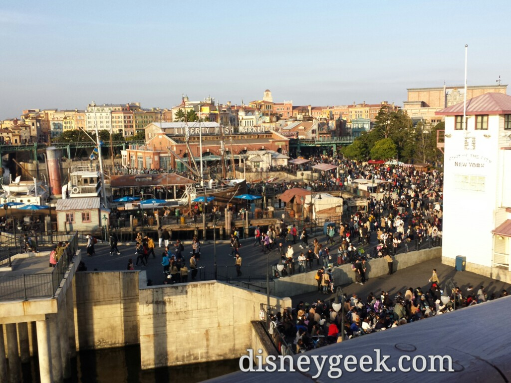 Tokyo DisneySea - A look at the crowd moving around the American Waterfront area.