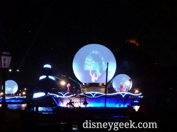 Tokyo DisneySea - I watched Fantasmic, which started at 5:30pm