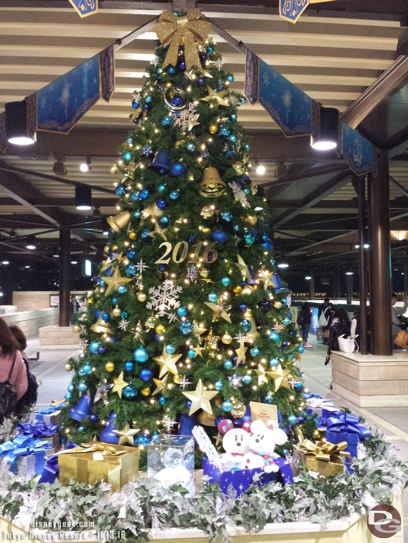 Tokyo DisneySea - Christmas Tree in the Resort Line Station at DisneySea