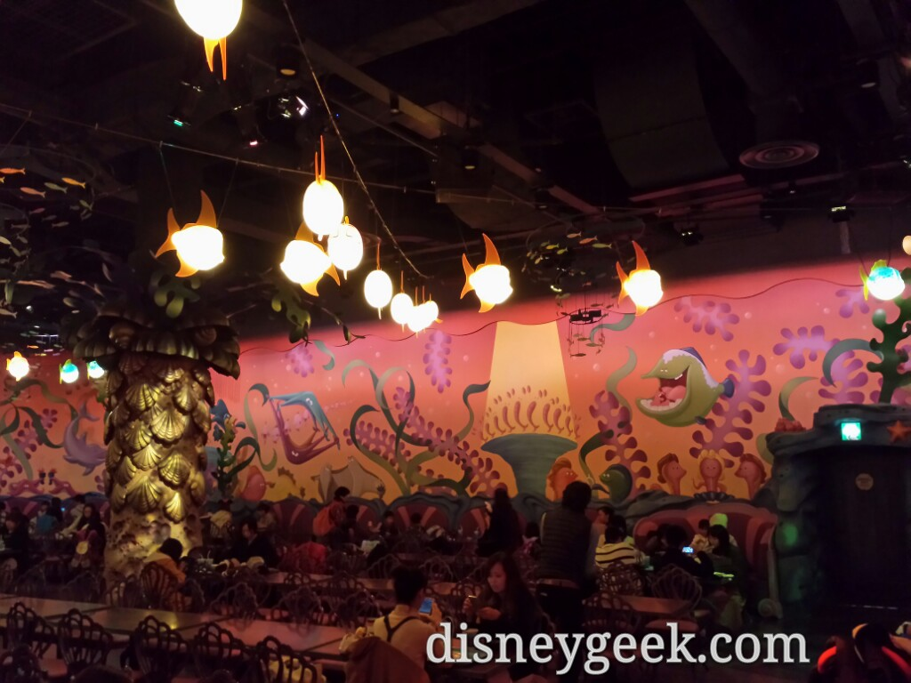 Tokyo DisneySea - Stopped for lunch in Mermaid Lagoon