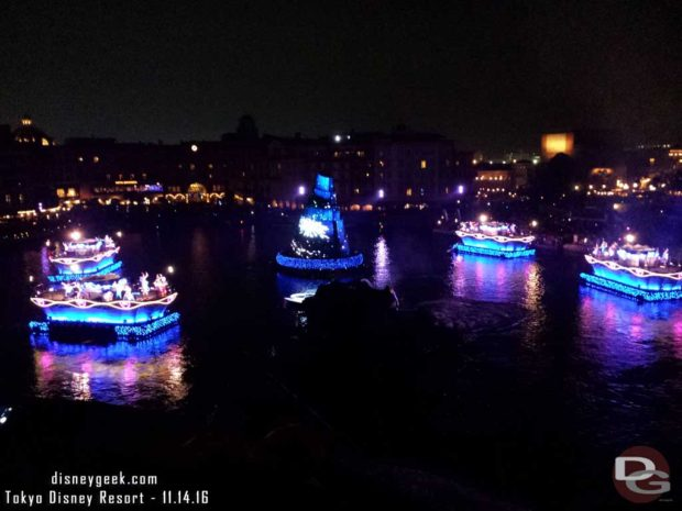 Tokyo DisneySea - A different view of Fantasmic! tonight from Fortress Exploration