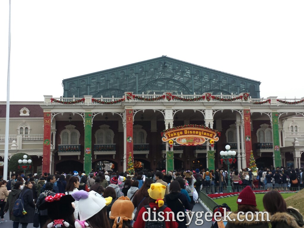 Heading into Tokyo Disneyland.