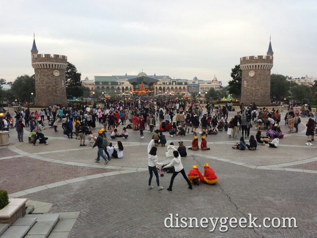 Tokyo Disneyland - Standing at Cinderella Castle looking toward World Bazaar