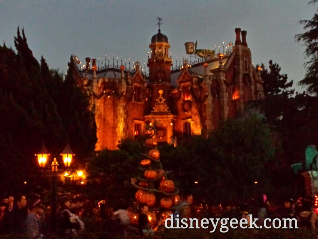 Tokyo Disneyland - Haunted Mansion Holiday as the sun was setting.