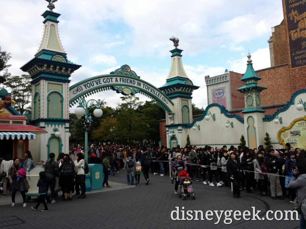 Tokyo DisneySea - Leaving the area to get away from the masses.