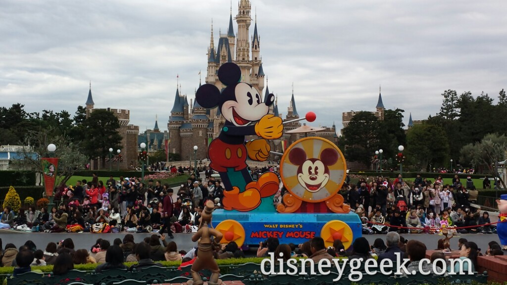 Tokyo Disneyland -Happiness is Here passing by.