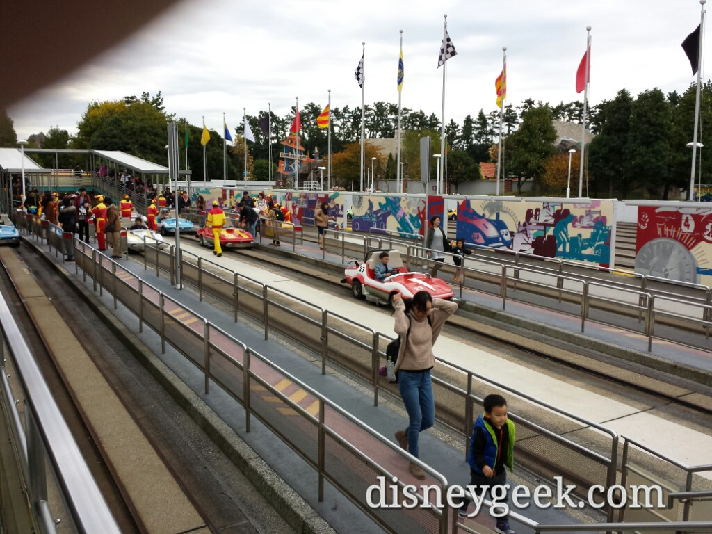 Tokyo Disneyland - Grand Circuit Raceway - Scheduled to close in January to make way for the Beauty and the Beast area.