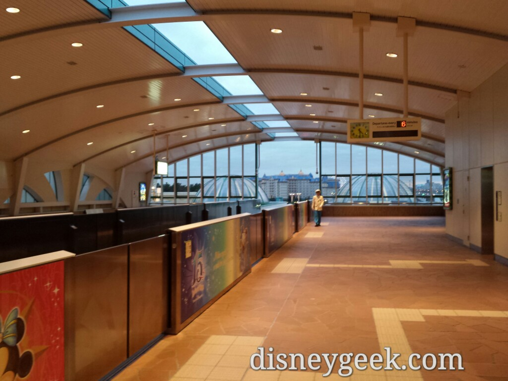 Tokyo Disneyland - A quiet Resort Gateway Station at 4:30pm