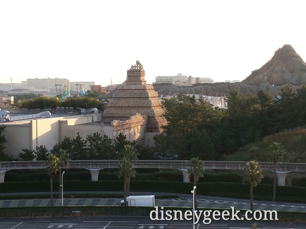 Looking to my right at DisneySea