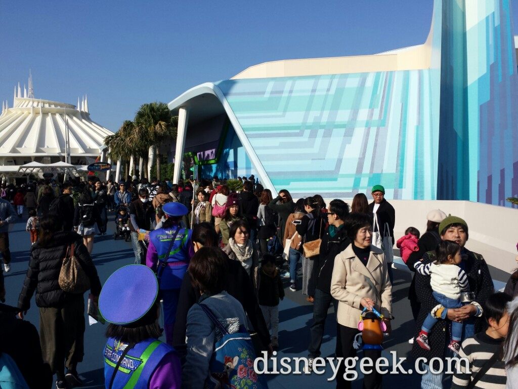 The Buzz Lightyear queue stretched toward the central plaza.