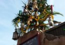#Christmas tree above Tropical Imports #JingleCruise
