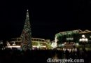#Disneyland Town Square Christmas tree this evening