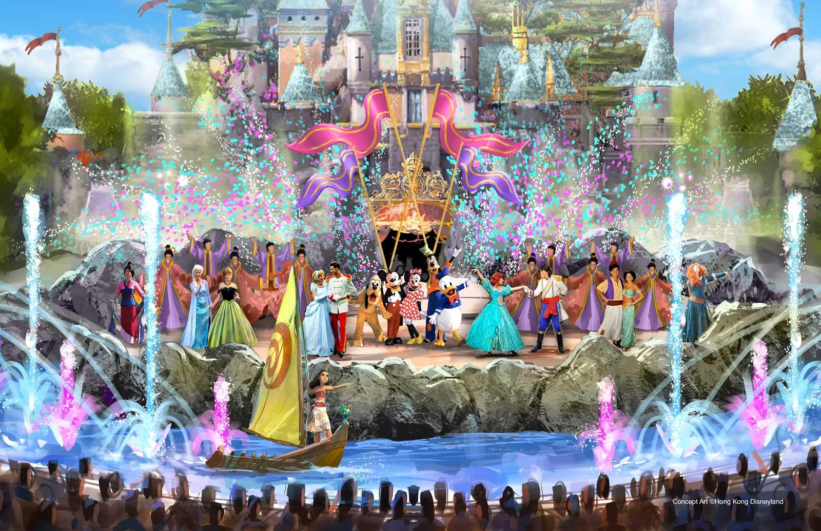 Hong Kong Disneyland Expansion - castle-daytime-show