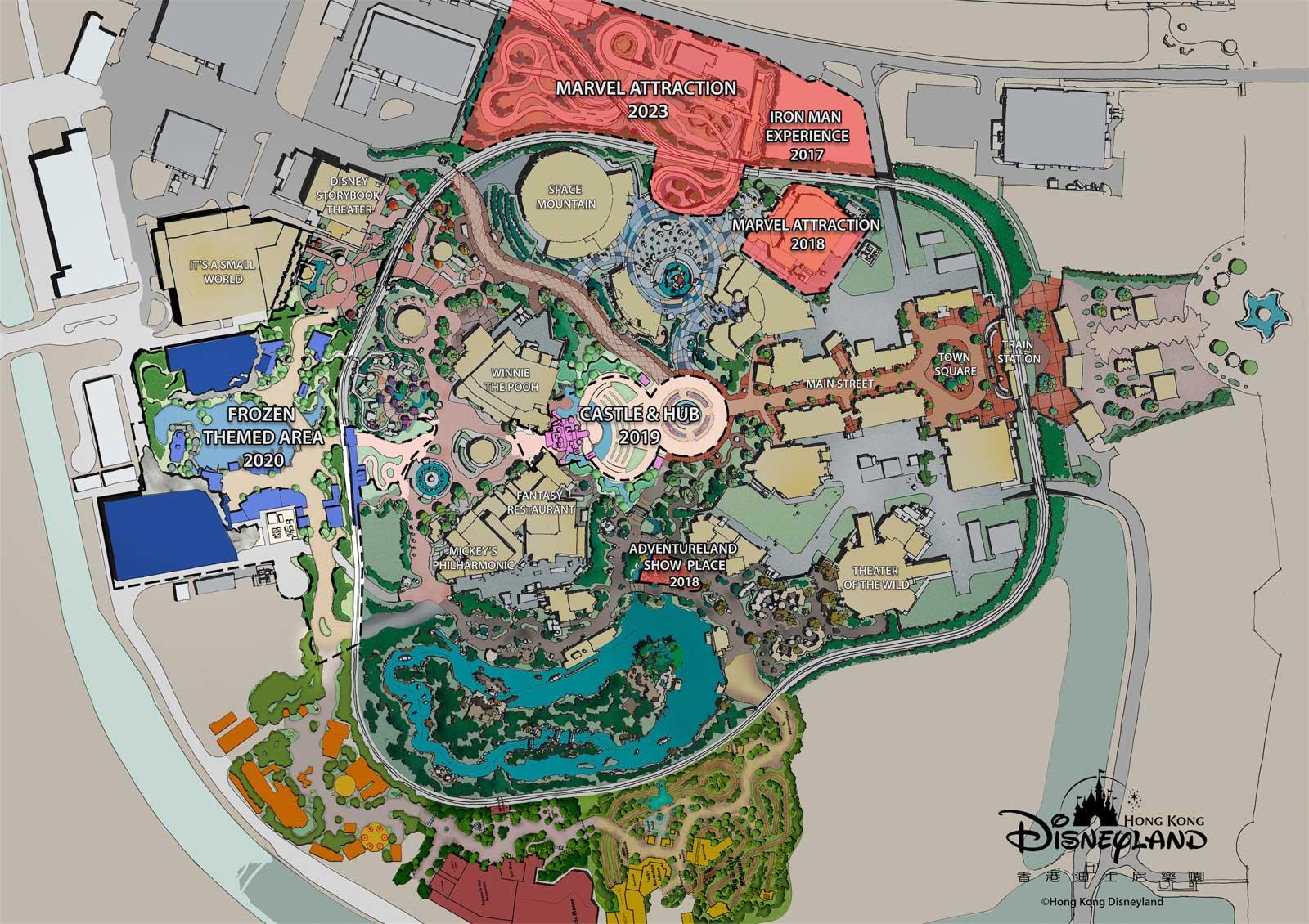 Hong Kong Disneyland Siteplan