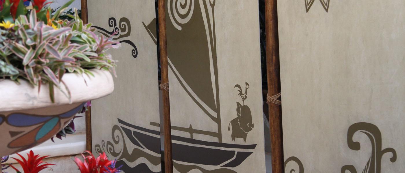 Moana meet and greet location set up in Adventureland Disneyland