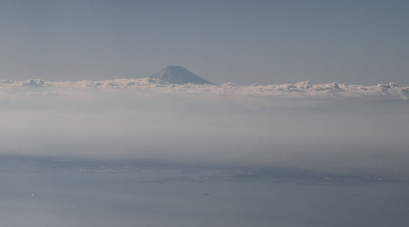Mt Fuji From Plane - Featured