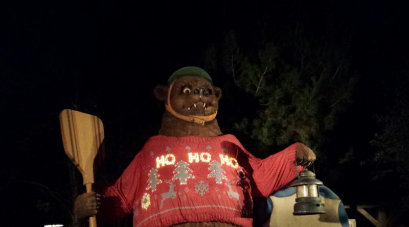 The Grizzly Bear's #ChristmasSweater lights up at night