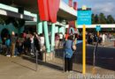 Magic Kingdom bus stop line is really long this morning at Pop Century all others less than a bus