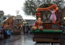 Because of weather a #Christmas Fantasy stepped off late and features floats only, no performers on the ground