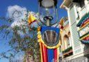 Main Street Electrical Parade banners on Main Street USA #Disneyland