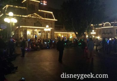 On Main Street for the return of the Main Street Electrical Parade to #Disneyland