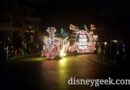 #Disneyland Main Street Electrical Parade Train passing through Town Square
