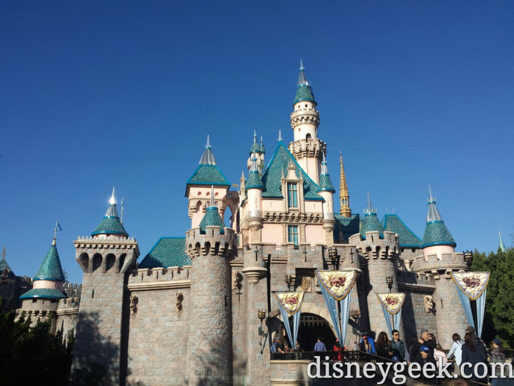 Disneyland Sleeping Beauty Castle this afternoon - The Geek's Blog ...