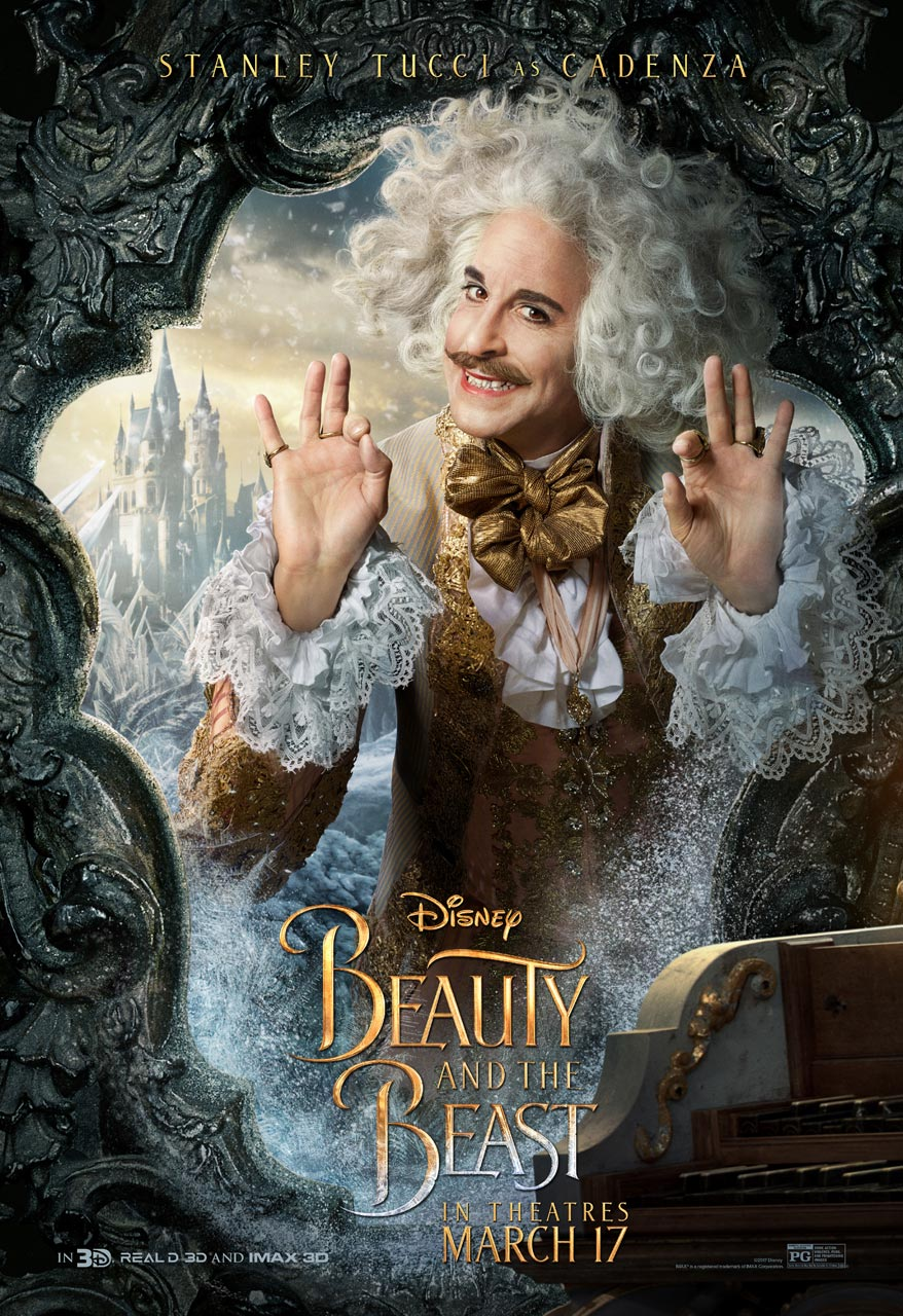 Beauty and the Beast -  Stanley Tucci as Cadenza