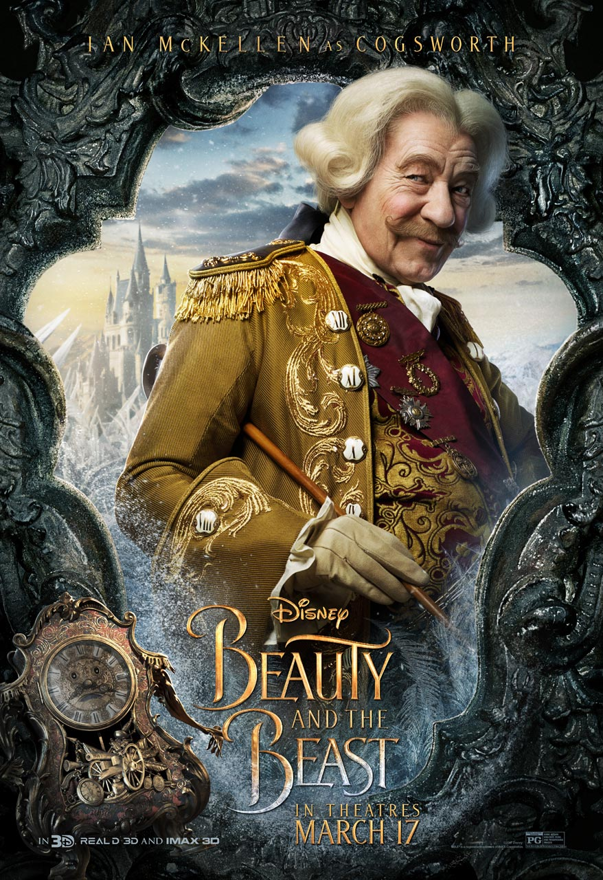 Beauty and the Beast - Ian McKellen as Cogsworth